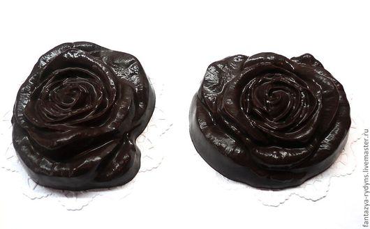 """Мыло ручной работы. Ярмарка Мастеров - ручная работа. Купить """"Шоколадные розы"""" для души и тела.. Handmade. Коричневый, роза"""