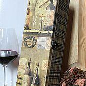 Для дома и интерьера ручной работы. Ярмарка Мастеров - ручная работа Винный короб. Handmade.