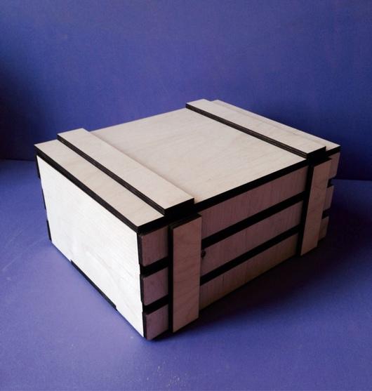 Подарочная упаковка ручной работы. Ярмарка Мастеров - ручная работа. Купить Ящик реечный с крышкой. Handmade. Ящик реечный