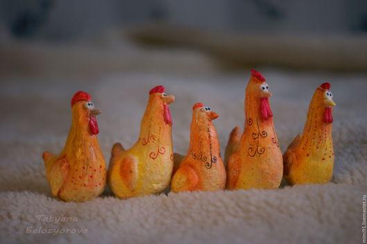 Праздничная атрибутика ручной работы. Ярмарка Мастеров - ручная работа. Купить Петухи и курицы. Набор.. Handmade. Комбинированный, вата