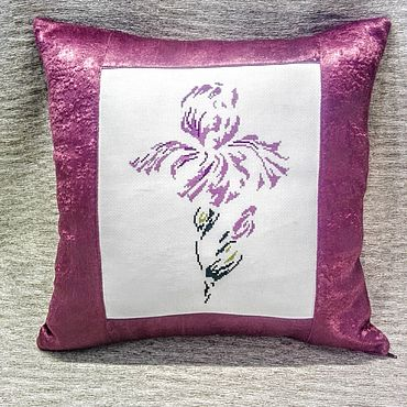 Для дома и интерьера handmade. Livemaster - original item Decorative pillow with embroidery