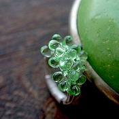"""Украшения handmade. Livemaster - original item Кольцо с яркими зелеными каплями """"Пробуждение"""". Handmade."""