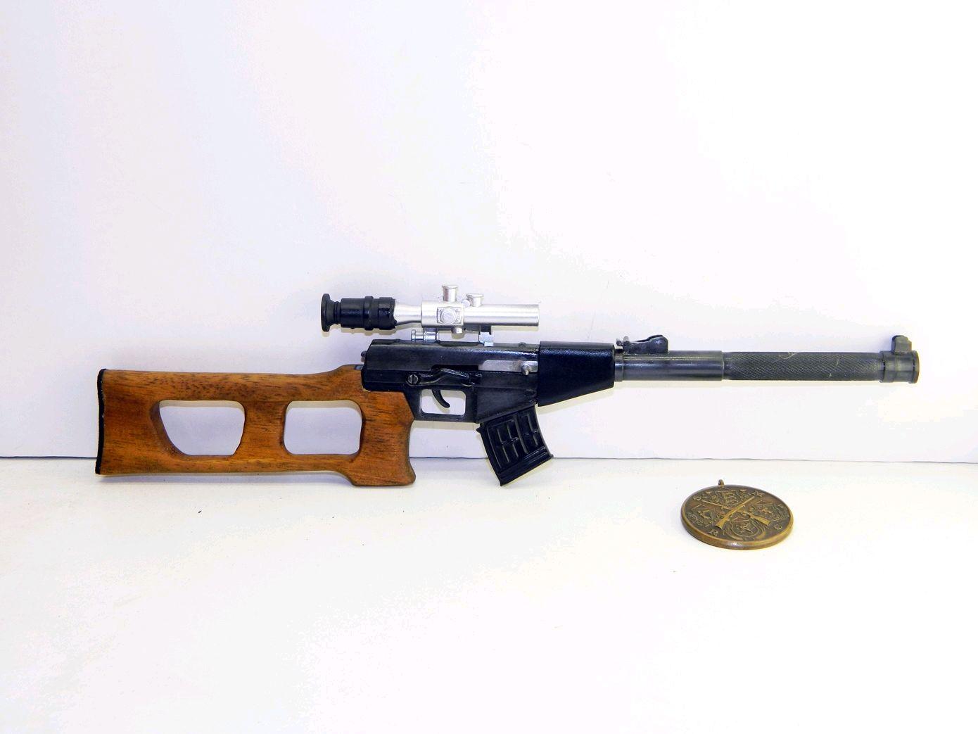 Миниатюрное оружие винтовка ВСС Винторез масштаб 1:3, Военная миниатюра, Москва,  Фото №1