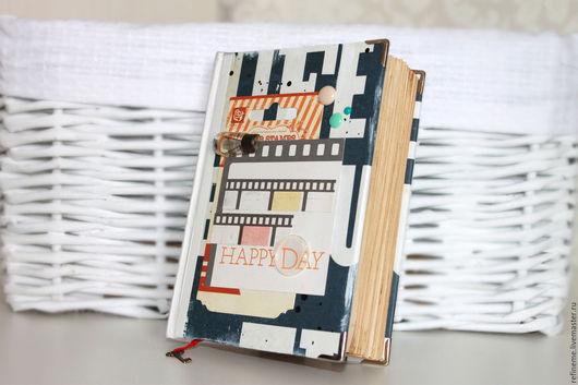 Блокноты ручной работы. Ярмарка Мастеров - ручная работа. Купить Блокнот для записей. Handmade. Тёмно-синий, ежедневник, подарок на все случаи