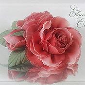 Украшения ручной работы. Ярмарка Мастеров - ручная работа Брошь с цветами Красные розы. Handmade.