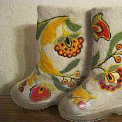 Обувь ручной работы. Ярмарка Мастеров - ручная работа Валенки детские для улицы валяные,с рисунком.ручная работа. Handmade.