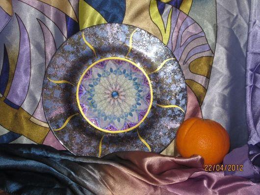 """Тарелки ручной работы. Ярмарка Мастеров - ручная работа. Купить Тарелка """"Звезда, по имени Солнце"""". Handmade. Тарелка, посуда, декупаж"""