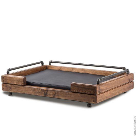 """Аксессуары для собак, ручной работы. Ярмарка Мастеров - ручная работа. Купить Дизайнерский лежак для собак """"LOFT"""". Handmade. Черный, для собаки"""