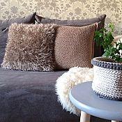 Подушки ручной работы. Ярмарка Мастеров - ручная работа Вязаные подушки. Handmade.