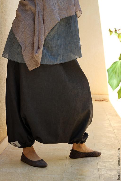 Брюки, шорты ручной работы. Ярмарка Мастеров - ручная работа. Купить Юбка-брюки. Любой размер.. Handmade. Женская одежда