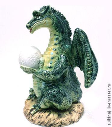 Статуэтки ручной работы. Ярмарка Мастеров - ручная работа. Купить Дракон. Handmade. Морская волна, хвост, статуэтка