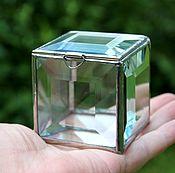 Свадебный салон handmade. Livemaster - original item Box. Box of glass. Silver box. Box facets. Handmade.