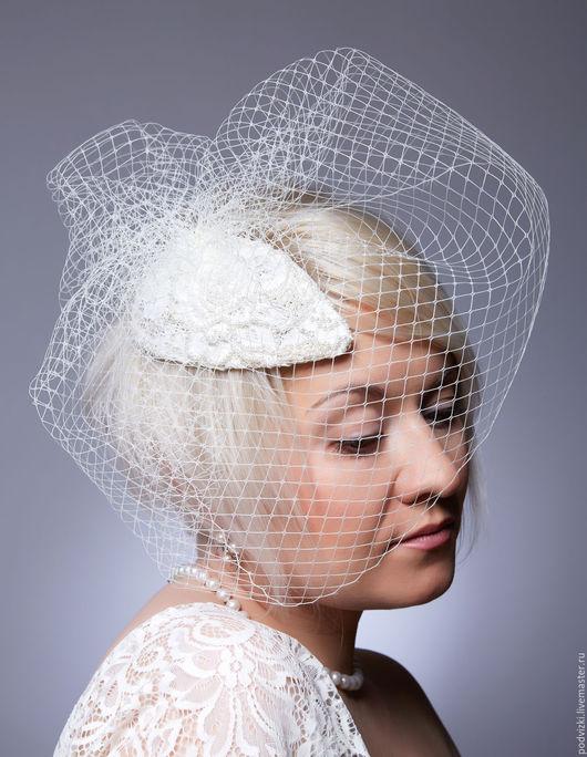 Свадебная шляпа   Шляпа для невесты Свадебная вуалетка  Свадебная шляпка  Шляпка невесты  Вечерняя шляпа  Шляпка  Вуалетка Вуалетка с цветами