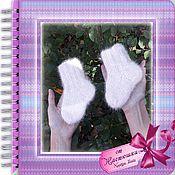 Аксессуары handmade. Livemaster - original item Baby socks made of dog hair 12 cm. Handmade.