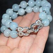 Украшения handmade. Livemaster - original item Delicate two-row bracelet natural aquamarine. Handmade.
