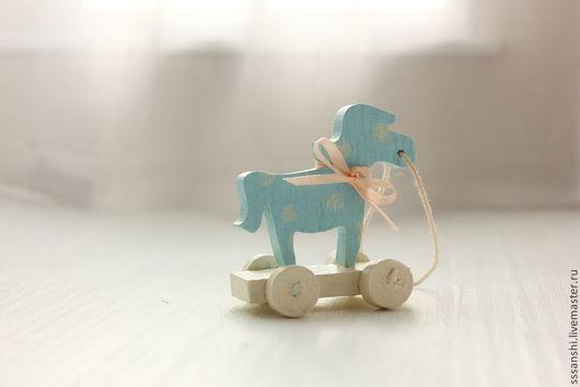 """Кукольный дом ручной работы. Ярмарка Мастеров - ручная работа. Купить Миниатюра """"Шебби лошадка"""". Handmade. Лошадка, шебби"""