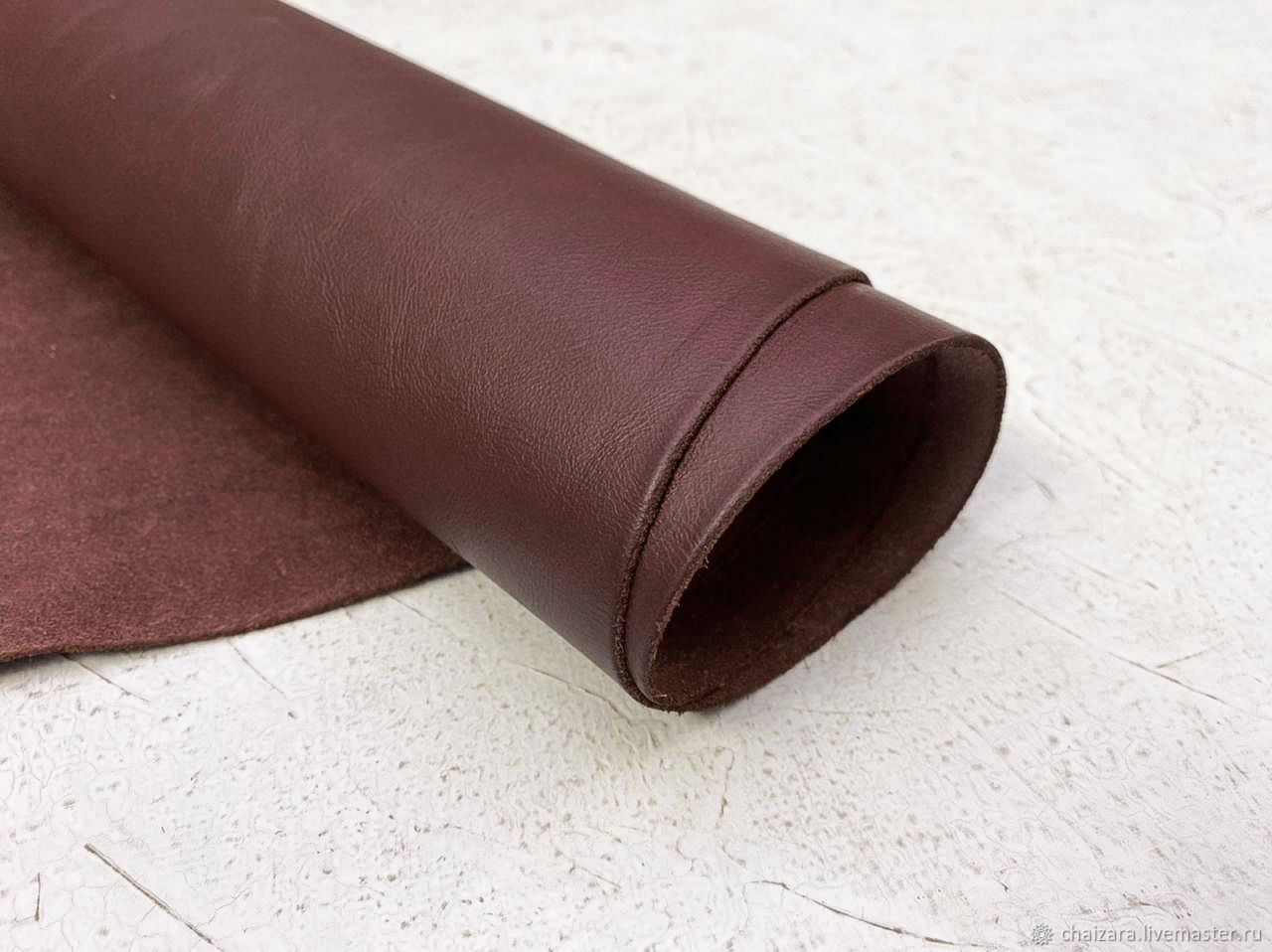 Натуральная кожа 1.2-1.4 мм Torino Bordo, Кожа, Оренбург,  Фото №1
