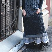 Одежда ручной работы. Ярмарка Мастеров - ручная работа Юбочка серая в горошек. Handmade.