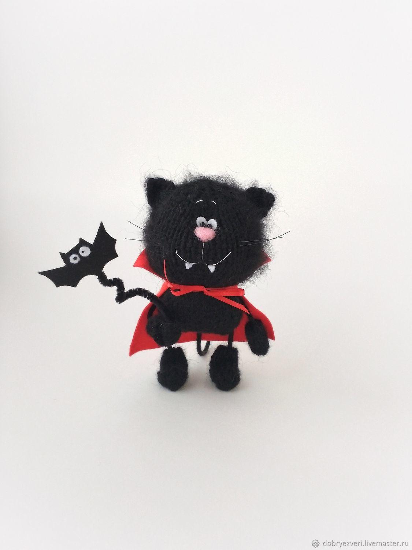 Вязаный черный кот мягкая игрушка амигуруми ручной работы, Мягкие игрушки, Барнаул,  Фото №1