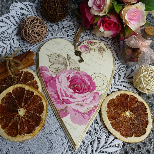 """Подарки для влюбленных ручной работы. Ярмарка Мастеров - ручная работа. Купить Подвеска-валентинка """"Ключик от сердца моего"""". Handmade. белый"""