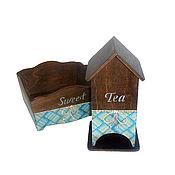 """Для дома и интерьера ручной работы. Ярмарка Мастеров - ручная работа Набор """"Sweet&Tea"""" (чайный домик, сухарница, конфетница). Handmade."""