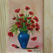 Картины и панно ручной работы. Ярмарка Мастеров - ручная работа Маки в вазе. Handmade.
