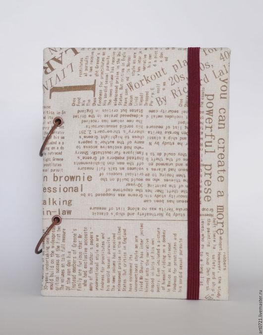 """Блокноты ручной работы. Ярмарка Мастеров - ручная работа. Купить Скетчбук """"News"""". Handmade. Бежевый, блокнот ручной работы"""