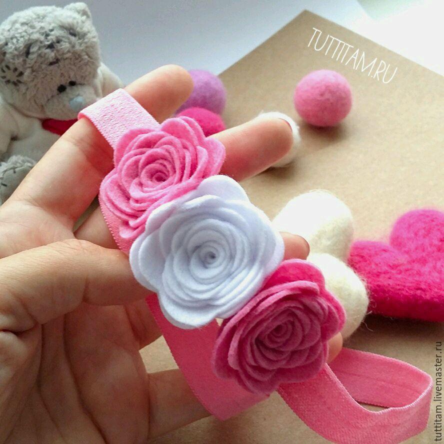 Как сделать повязку с цветами своими руками мастер класс 93