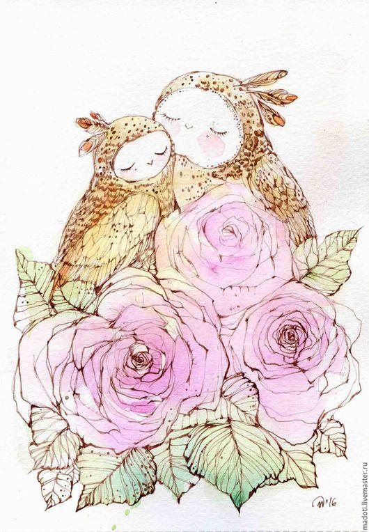 Животные ручной работы. Ярмарка Мастеров - ручная работа. Купить Любовь на двоих. Handmade. Бледно-розовый, roze, двое, радость