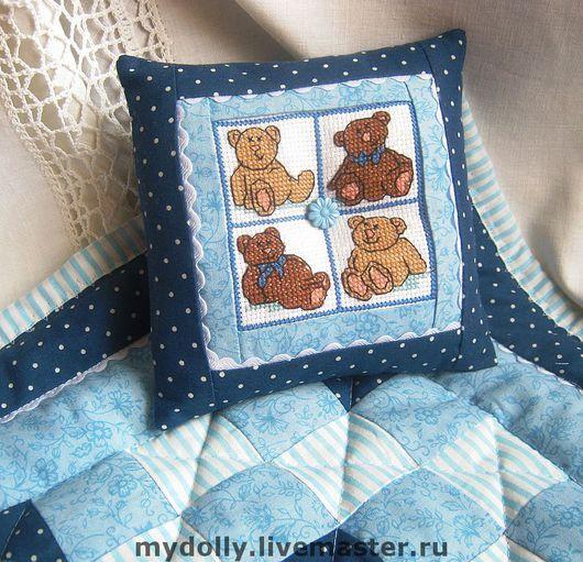 Кукольный дом ручной работы. Ярмарка Мастеров - ручная работа. Купить Комплект постельных принадлежностей для куклы или мишки Тедди.. Handmade.