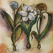 """Картины и панно ручной работы. Ярмарка Мастеров - ручная работа Панно """"Ботаника"""". Handmade."""
