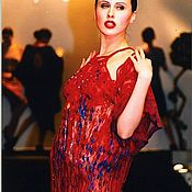 """Одежда ручной работы. Ярмарка Мастеров - ручная работа Платье """"Джеки вернулась"""" красное. Handmade."""