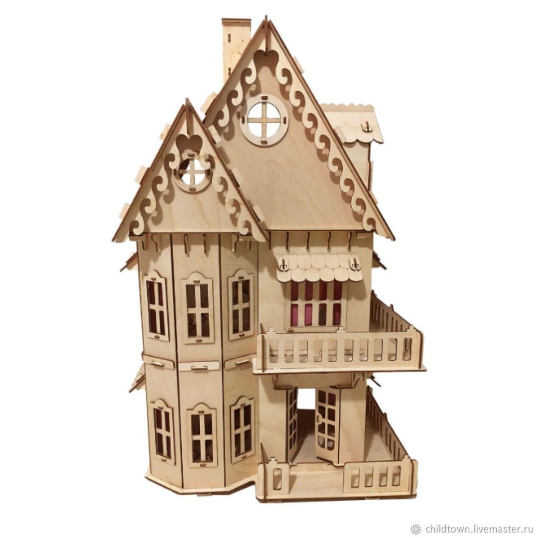 Кукольный домик + 6 комплектов мебели + Подарок, Кукольные домики, Санкт-Петербург,  Фото №1