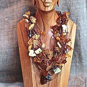 """Украшения ручной работы. Ярмарка Мастеров - ручная работа Колье """"Танец осенних листьев"""". Handmade."""