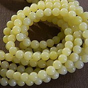 Материалы для творчества handmade. Livemaster - original item jade beads 6 mm. for PCs. Handmade.