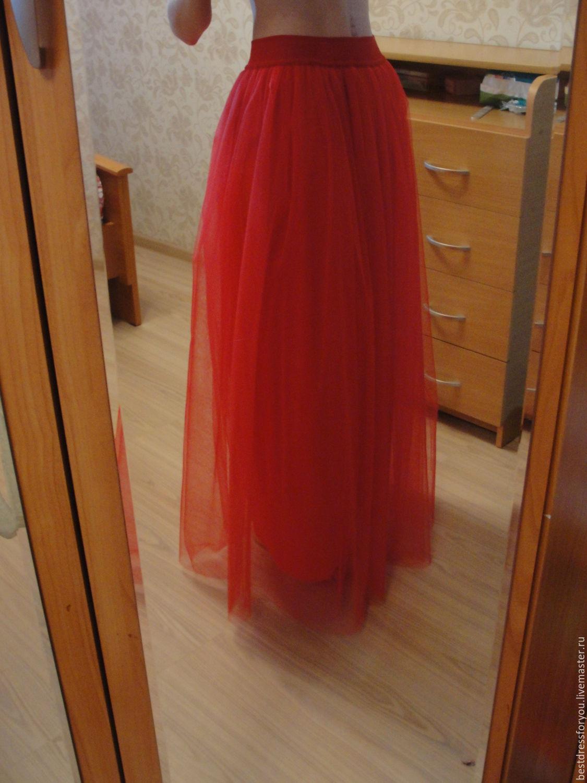 Как сделать длинную юбку из фатина