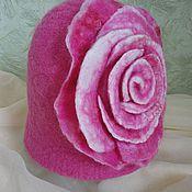 """Для дома и интерьера ручной работы. Ярмарка Мастеров - ручная работа Шапка для бани """"Роза"""". Handmade."""