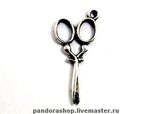 Ножнички миниатюрные, цвет античное серебро, размер 30х14 мм - 30.00