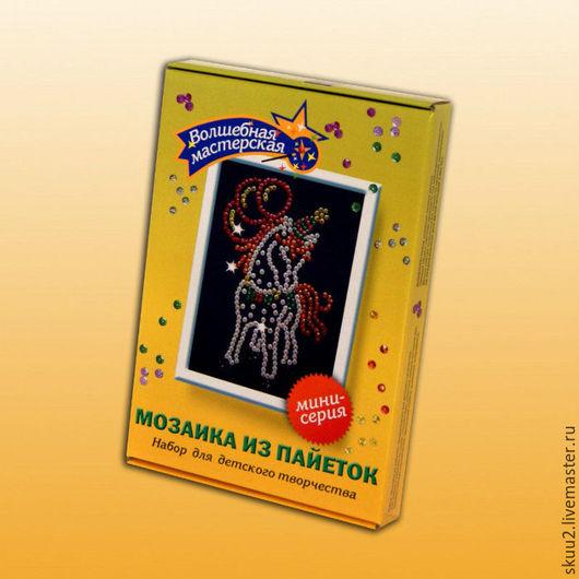 Открытки и скрапбукинг ручной работы. Ярмарка Мастеров - ручная работа. Купить Мозаика из пайеток «Лошадка», мини-серия (Волшебная мастерская). Handmade.