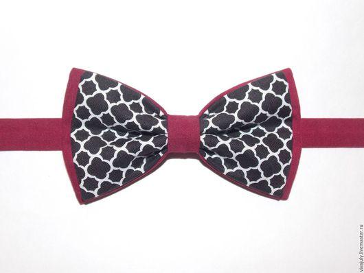 """Галстуки, бабочки ручной работы. Ярмарка Мастеров - ручная работа. Купить Галстук - бабочка """"Виндзор"""" на бордовом. Handmade. Черный, галстук"""