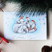 Открытки handmade. Livemaster - original item Christmas card.Happy New year!. Handmade.