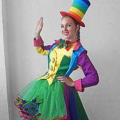Одежда handmade. Livemaster - original item Rainbow-Clown girl. Animator-actor  suit. Handmade.