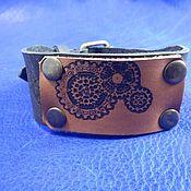 Украшения handmade. Livemaster - original item Leather bracelet Gears. Handmade.