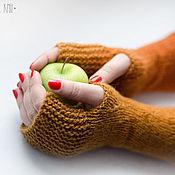 Аксессуары ручной работы. Ярмарка Мастеров - ручная работа Митенки Рыжая осень. Handmade.