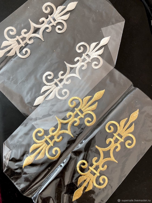 Аппликации золотые и серебрянные, 2 пары в наличии, Аппликации, Санкт-Петербург,  Фото №1