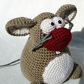 Куклы и игрушки ручной работы. Ярмарка Мастеров - ручная работа Вязаный симпатичный Мышун. Handmade.