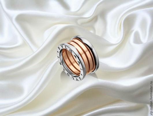 Кольца ручной работы. Ярмарка Мастеров - ручная работа. Купить кольцо BVLGARY из коллекции ZERO(реплика) в золоте 585. Handmade. Желтый