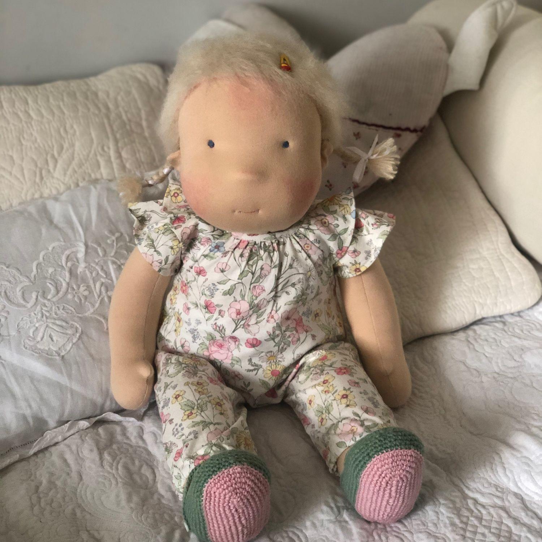 Вальдорфская кукла 60 см, Вальдорфские куклы и звери, Москва,  Фото №1