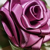 """Украшения ручной работы. Ярмарка Мастеров - ручная работа Резинка для волос """"Роза брусничного цвета"""". Handmade."""