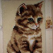 """Картины и панно ручной работы. Ярмарка Мастеров - ручная работа Панно в ковровой технике """"Котеночек мой"""". Handmade."""